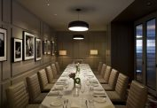 Private Dining Room in the Evening