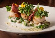 Scallops with Lemon Risotto