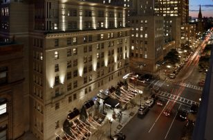 Night Exterior of Loews Boston Hotel