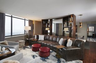 Poet Suite Living Room | Loews Minneapolis Hotel