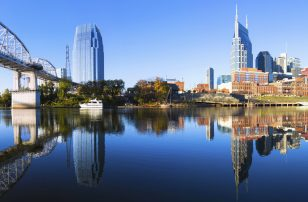 City Skyline of Nashville Panorama - Daytime