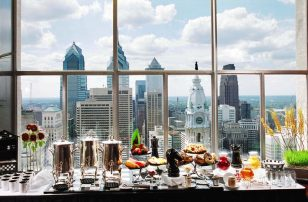 Philadelphia Skyline from 33rd floor event | Loews Philadelphia Hotel