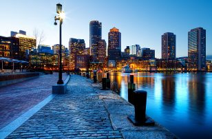 Boston Harbor Dusk